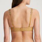 Back image of woman wearing Marie Jo Avero Gold Performed Plunge Heart Shaped Bra