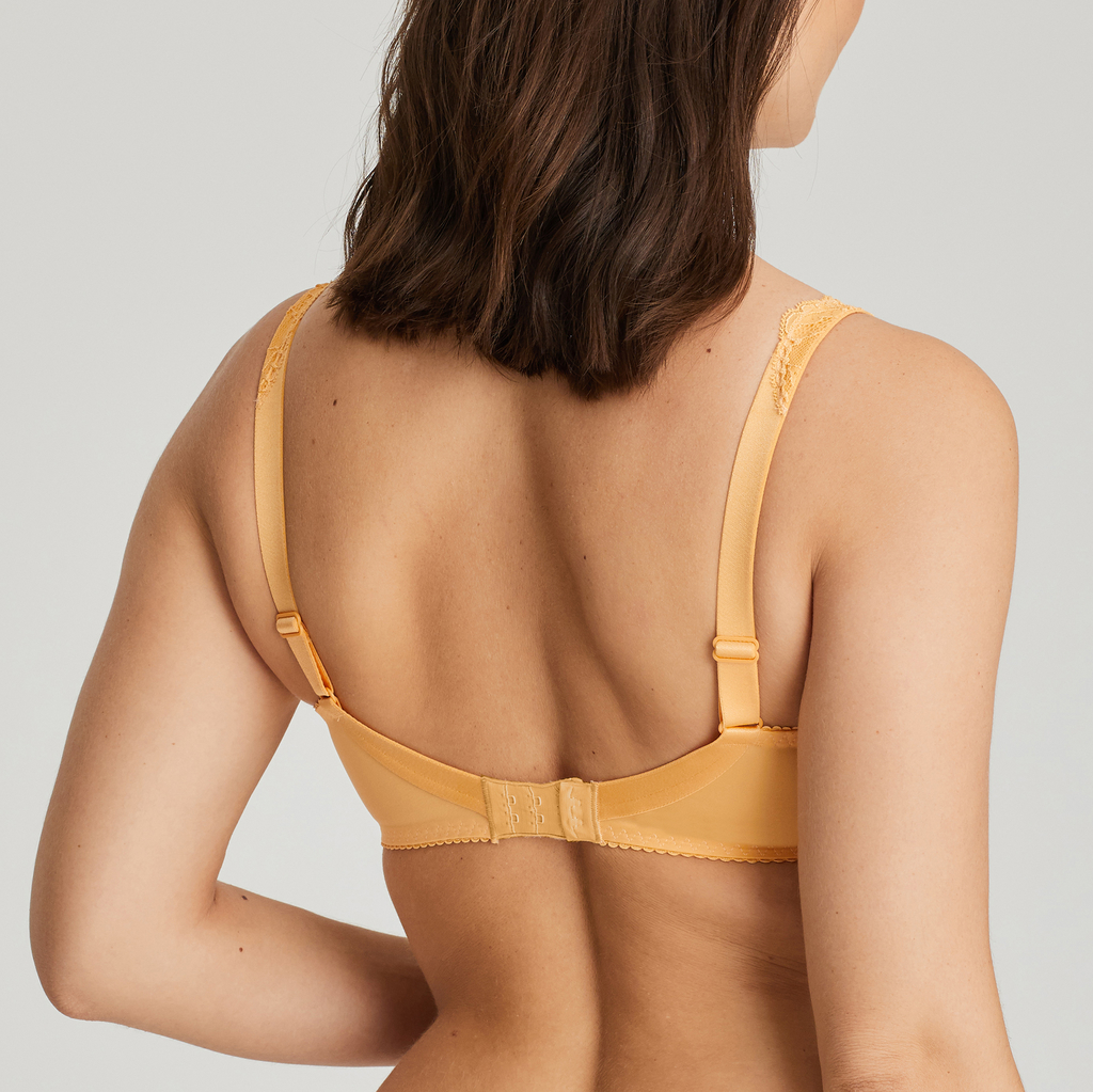 The back of Madison Mango full cup bra