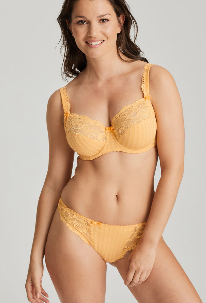Madison Mango full cup bra and brief