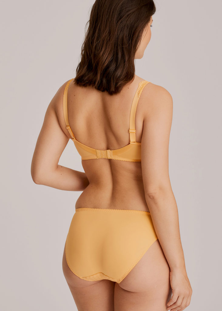 The back of Madison Mango Brief and full cup bra
