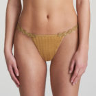 Front image of Woman wearing Marie Jo Avero Gold Daisy Gstring