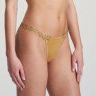 Woman wearing Marie Jo Avero Gold Daisy Gstring
