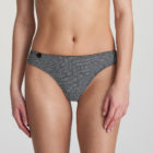 Front image of woman wearing Marie Jo L'Aventure Tom G-String in Black and White Check