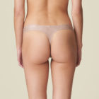 Back view of Women wearing Marie jo LAventure Tom in patina animal print Gstring