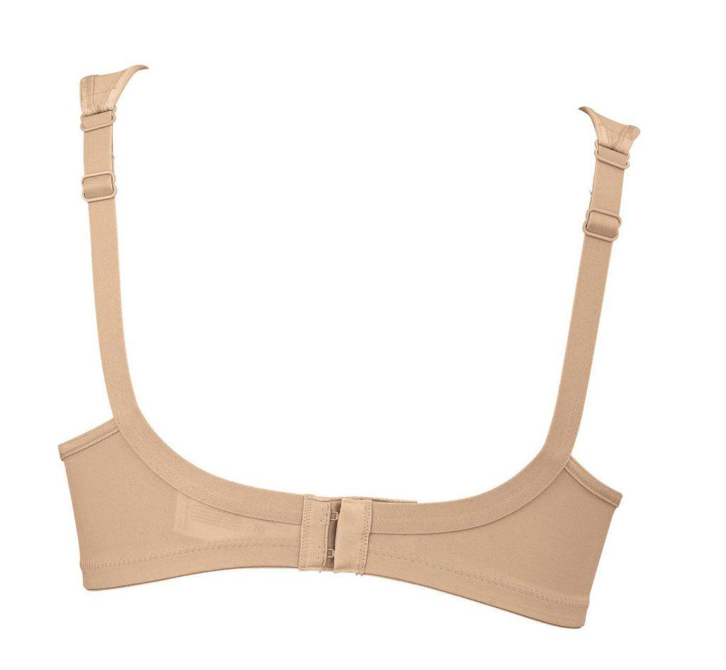 Back of Anita Clara soft cup bra in skin colour