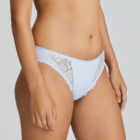 Deauville Heather Blue Rio Brief close up to the side view