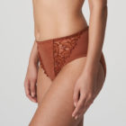 Side image of Woman wearing Prima Donna Deauville in Cinnamon Red Full Brief
