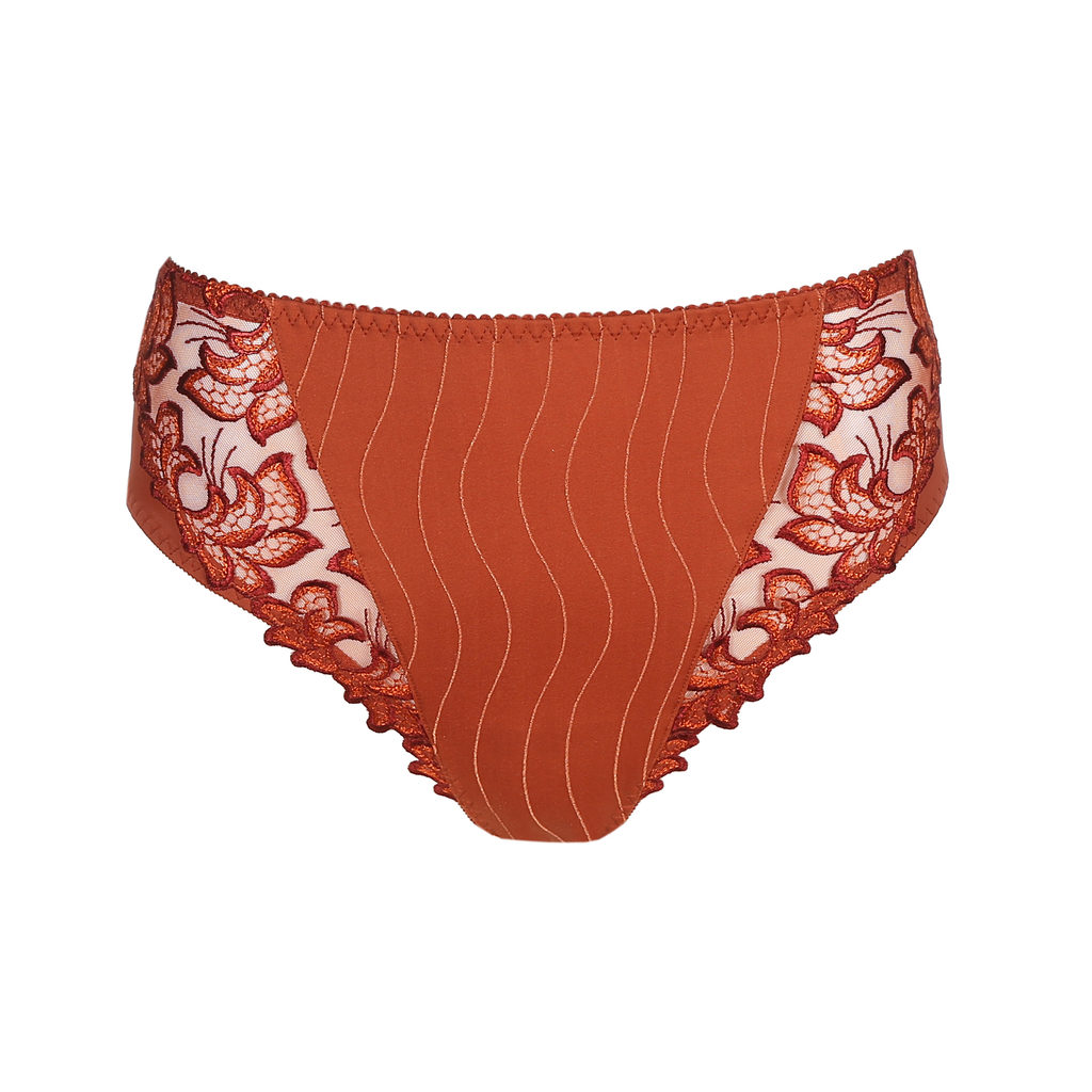 Prima Donna Deauville in Cinnamon Red Full Brief