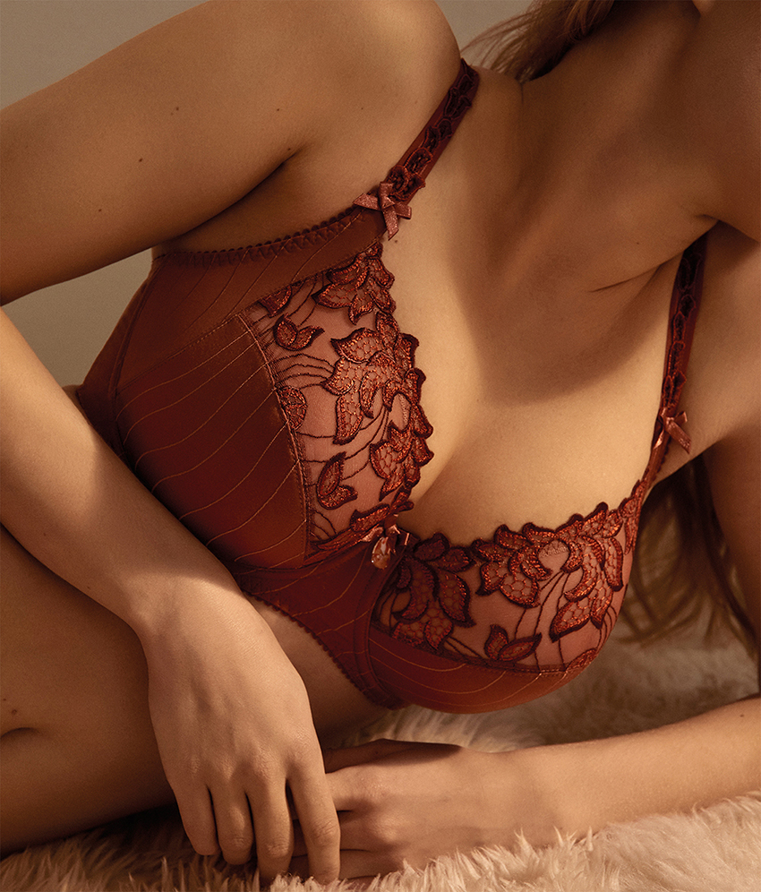 Prima Donna Deauville in Cinnamon Red Full Cup Bra