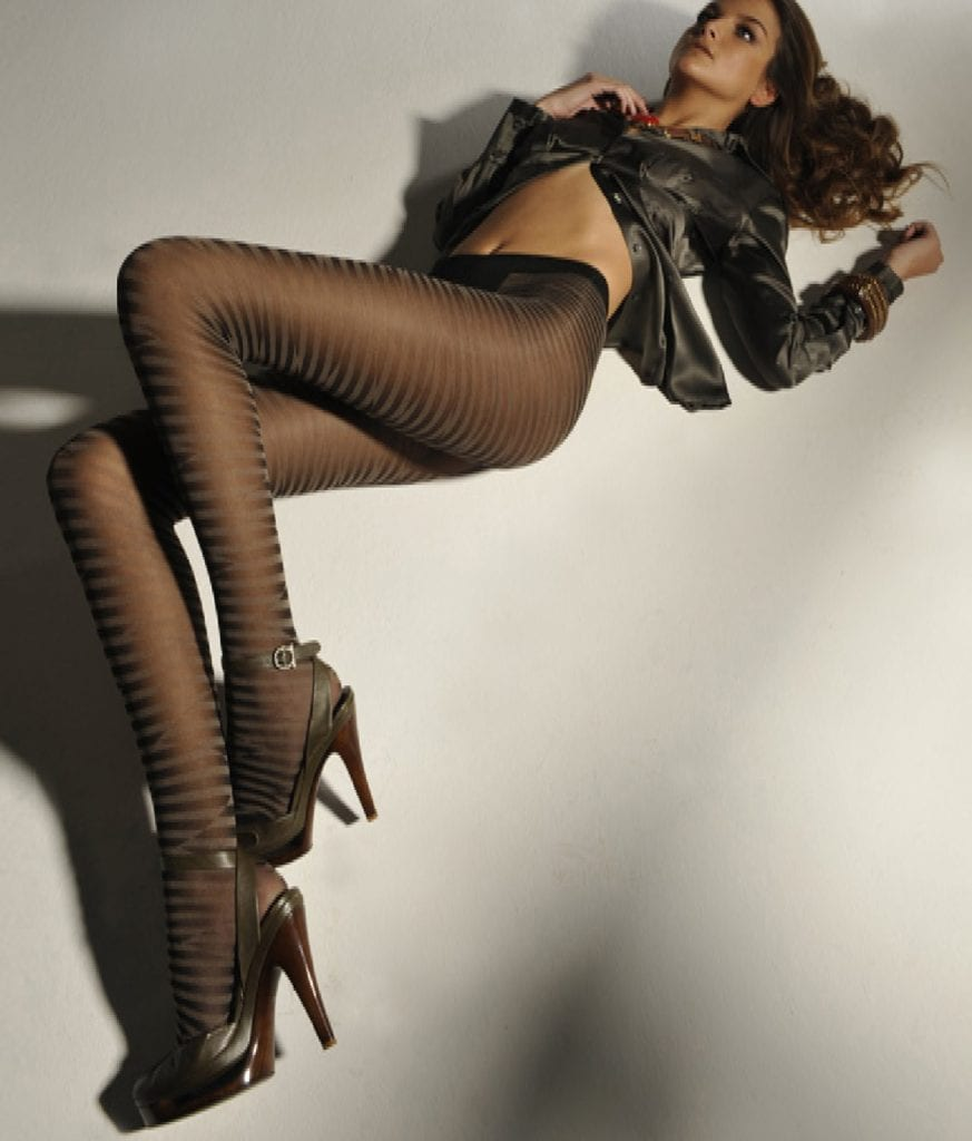 Adriana Animal Stripe Tights-7115