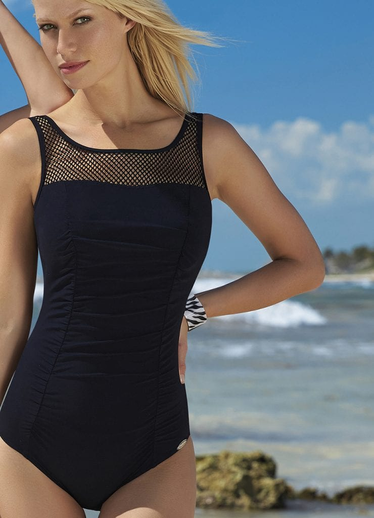 Front image Sunflair Garden Dots Mastectomy Swimsuit