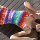 V-Neck Swimsuit-12454