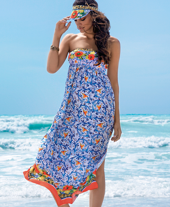 Maxi Bandeau Sun Dress-0