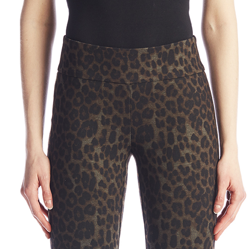 Leopard Step Hem Trouser-13462