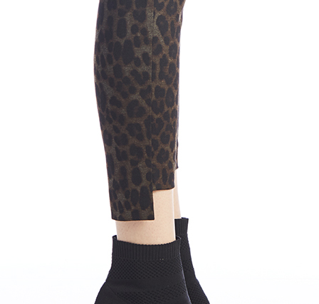 Leopard Step Hem Trouser-13463