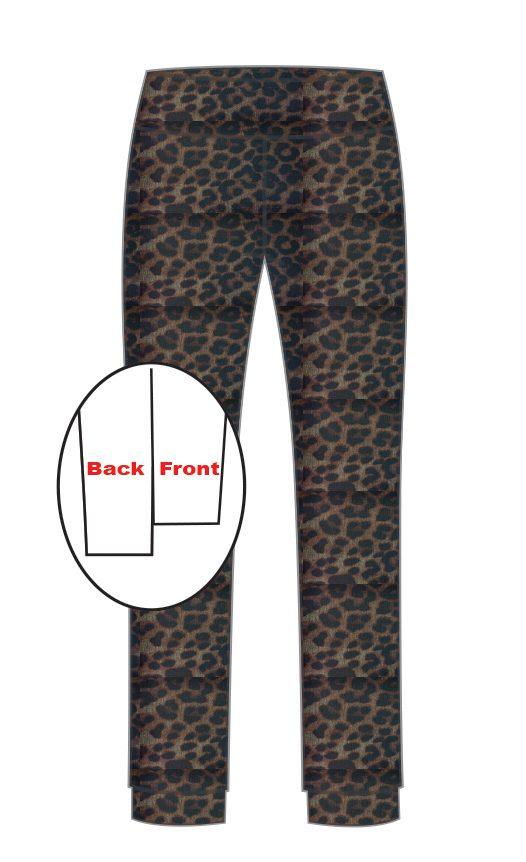 Leopard Step Hem Trouser-13569