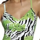 Roidal Zebra Palm V Neck Swimsuit -13997
