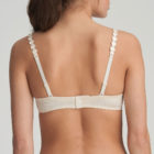 Back image of Woman wearing Marie Jo L'Aventure Tom Padded Balconnet Bra in Pearled ivory