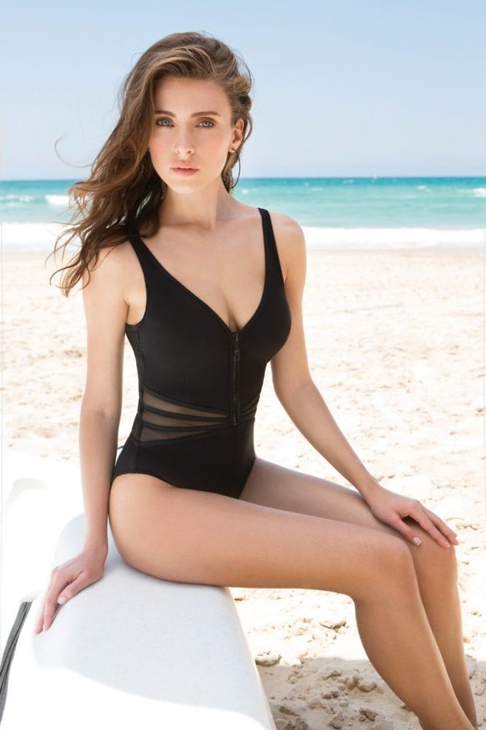 Mesh detail Swimsuit-14786
