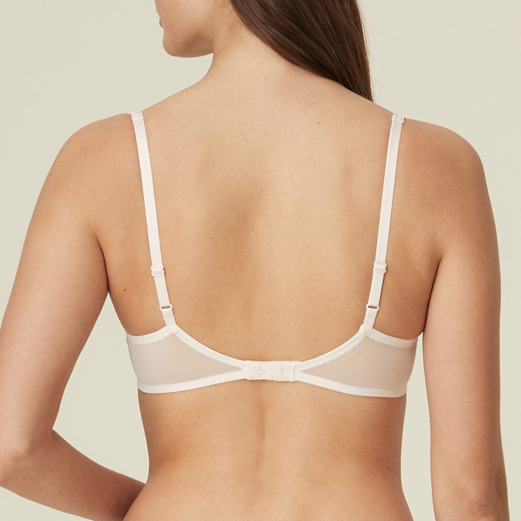 back of white bra