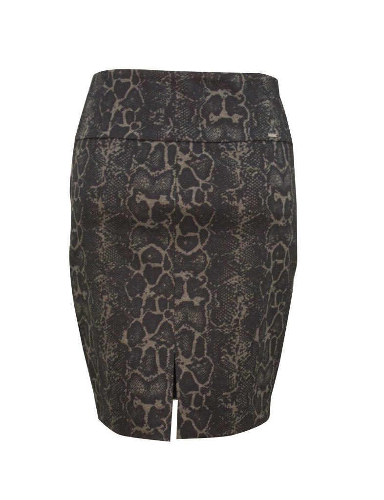 snake patterned skirt with slit