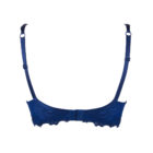 Back View of Lise Charmel Dressing Floral Half Cup bra in dressing blue