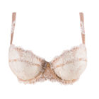 Lise Charmel Dressing Floral Half Cup Underwired Bra in Nacre Skin Colour