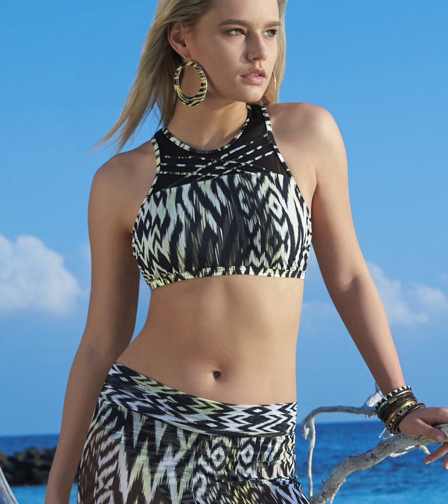 Halterneck bikini and trousers - caribbean temptation