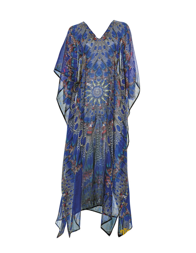 Dauville wild blue feather dress