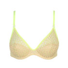 product image triangle bra in limone