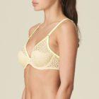 Side view luxury lingerie bra in limone