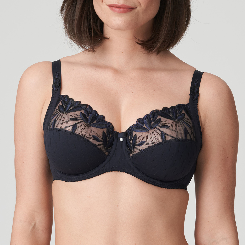 Woman wearing Prima Donna Orlando Night Blue Full Cup Bra