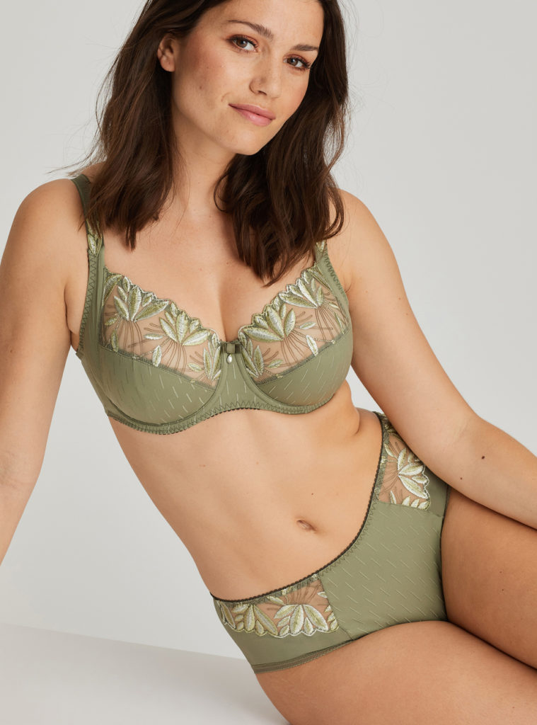 Orlando Orlando Summer leaf full cup bra and brief