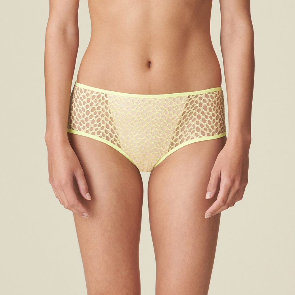 Front view of shorty brief in limone
