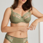 Orlando Summer leaf brief and full cup bra