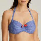 Model in halter neck option of bikini top