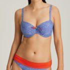 Fold down bikini brief and full cup bikini top Jacaranda Blue