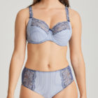 Prima Donna Nyssa blue full cup bra with matching deep brief in Indigofera