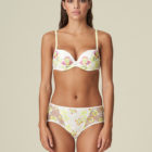 Mary Jo-neon flora -Amber- full brief and padded push up bra