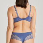 Rear view of Nyssa bra and luxury culotte brief in Indigofera