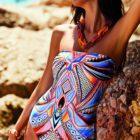Nuria Rerrer- Calipso Bandeau swimsuit