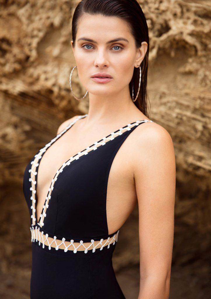 Cabaret plunge swimsuit beach photo