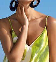Thin straps on stunning beach dress