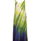 Lime and blue beach dress by Maryann