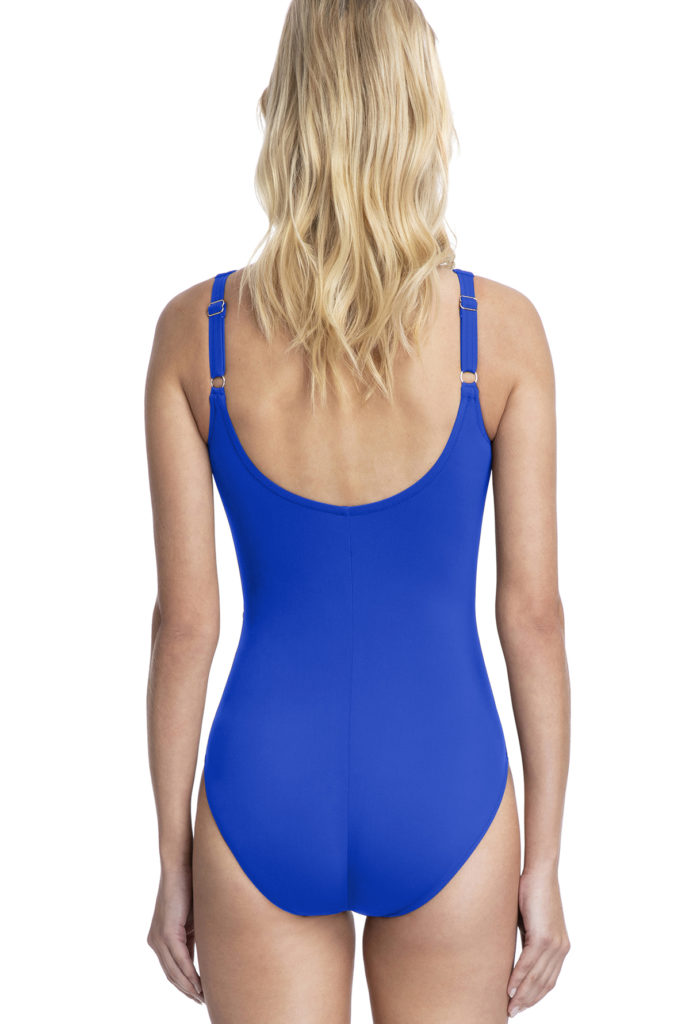 back of Gottex profile cross over swimsuit