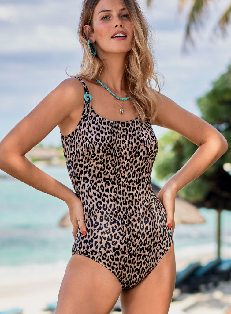 mastectomy leopard print swimsuit