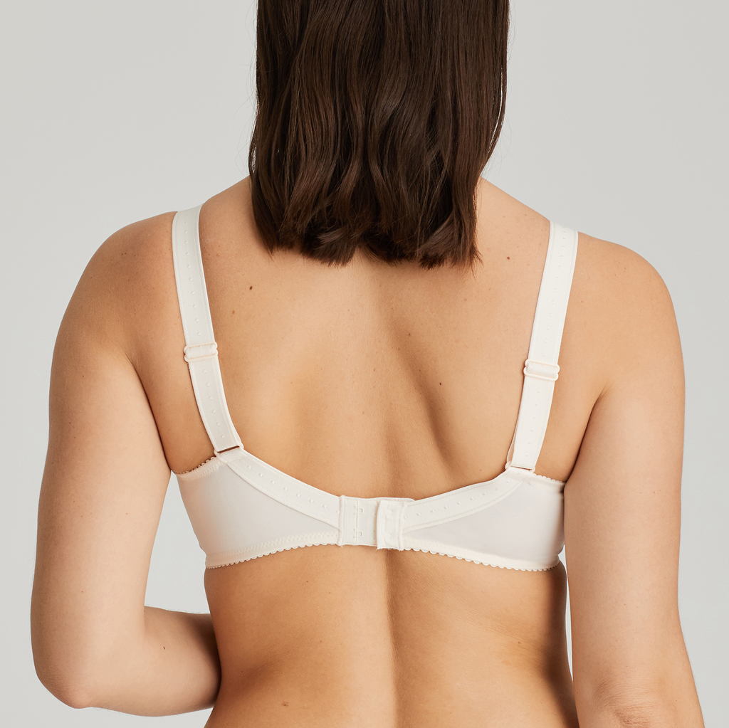 Back image of Prima Donna Orlando Comfort Bra In ivory with matching brief