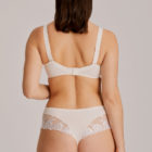 Back view of Woman wearing Prima Donna Orlando Comfort Bra In ivory with matching brief