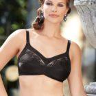 Woman wearing Anita Safina soft cup comfort bra in black