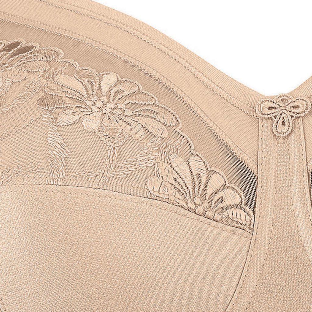 Close up of Anita Safina soft cup comfort bra in skin colour